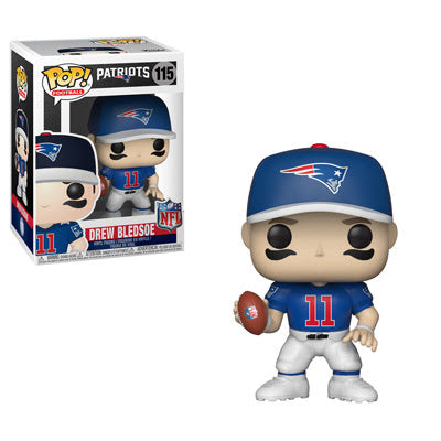 NFL Legends Pop! Vinyl Figure Drew Bledsoe [New England Patriots] [115] - Fugitive Toys