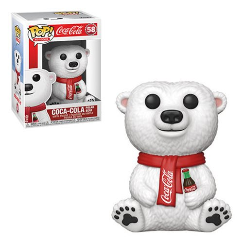 Coke Pop! Vinyl Figure Coca Cola Polar Bear [58] - Fugitive Toys