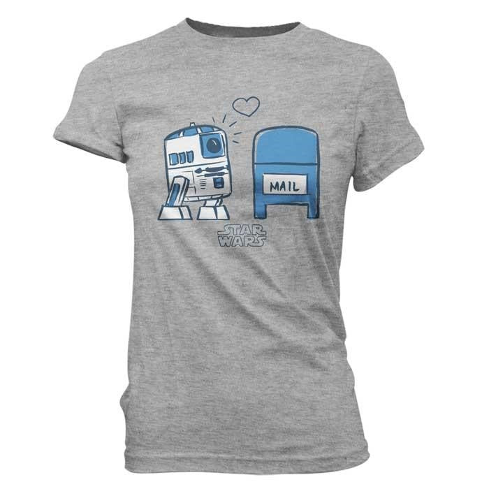 Pop! Tees Super Cute Star Wars R2D2 In Love (Women's Large)