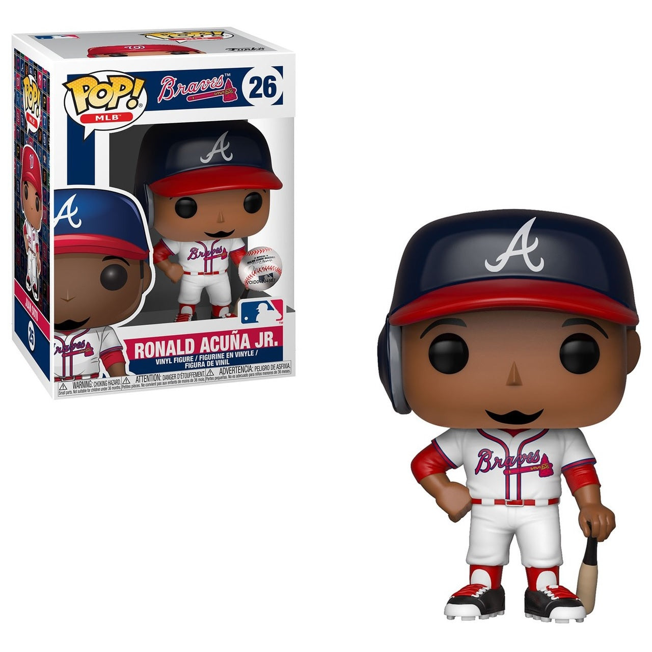 MLB Pop! Vinyl Figure Ronald Acuna Jr. [Atlanta Braves] [26] - Fugitive Toys