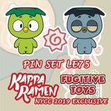Kappa Ramen 3 Pin Set by Nena [2019 NYCC Fugitive Toys Exclusive]