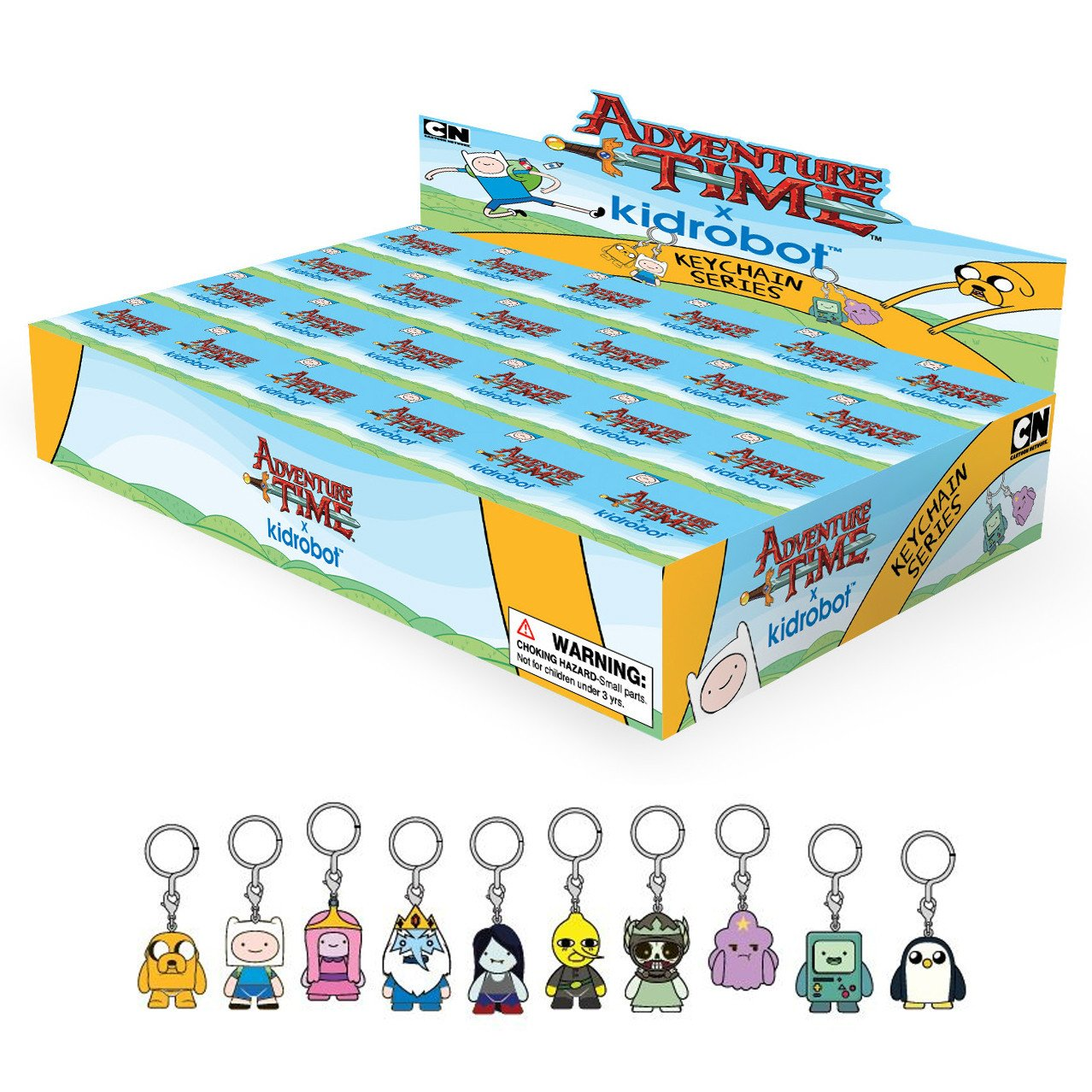 Adventure Time x Kidrobot Keychain Series: (Case of 24) - Fugitive Toys