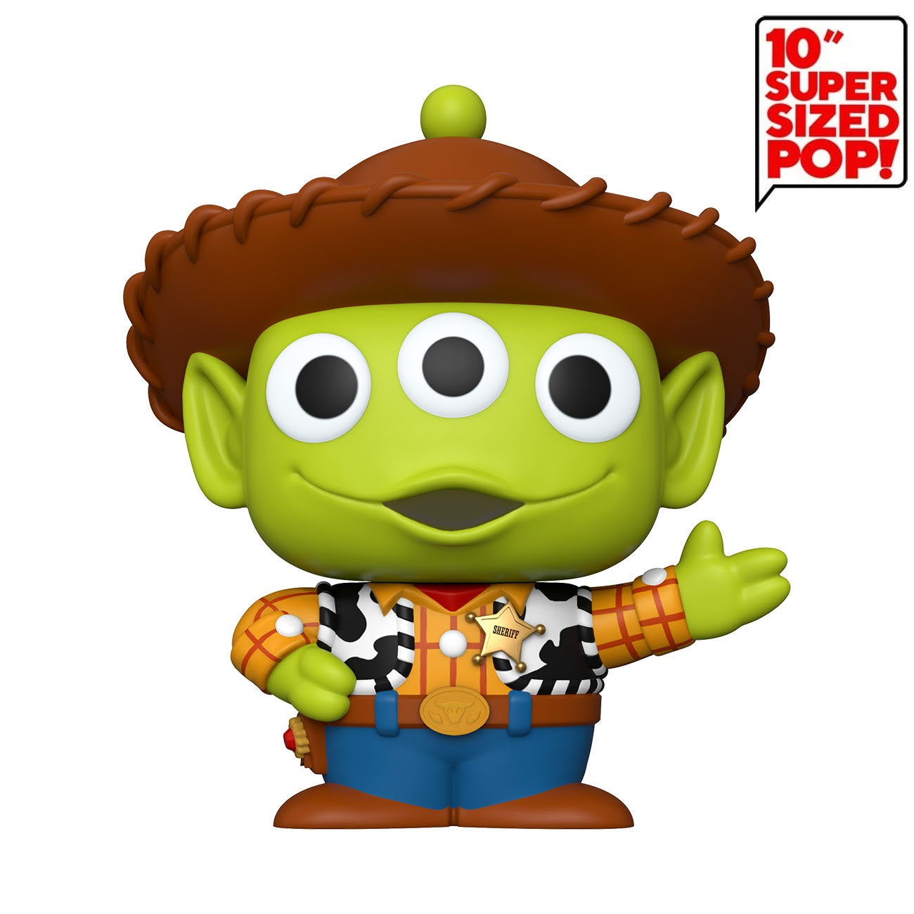 Disney Pop! Vinyl Figure Pixar Alien Remix Woody [10 inch] - Fugitive Toys