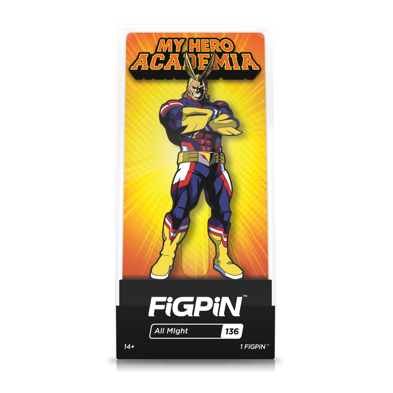 My Hero Academia: FiGPiN Enamel Pin All Might [136]