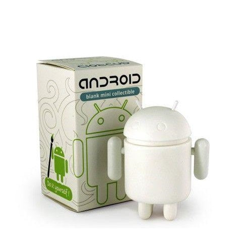 Android Do It Yourself DIY Blank White Mini Figure