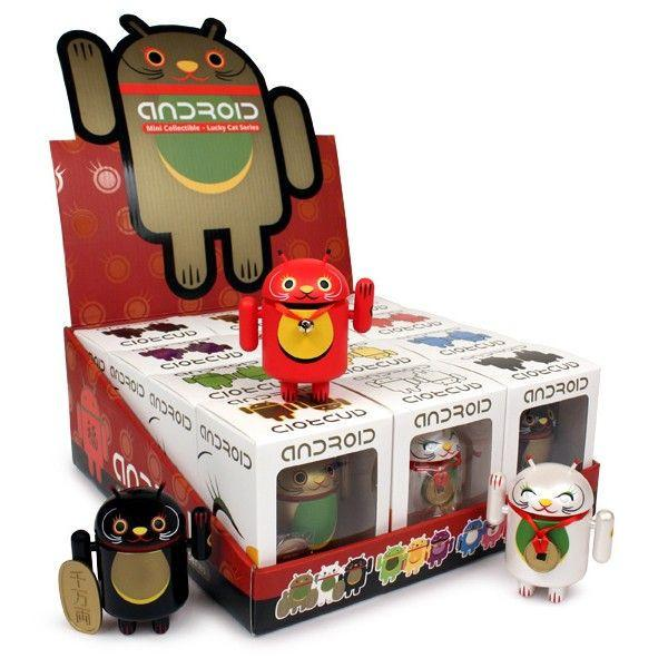 Android Mini Collectible Lucky Cat Series (Case of 12)