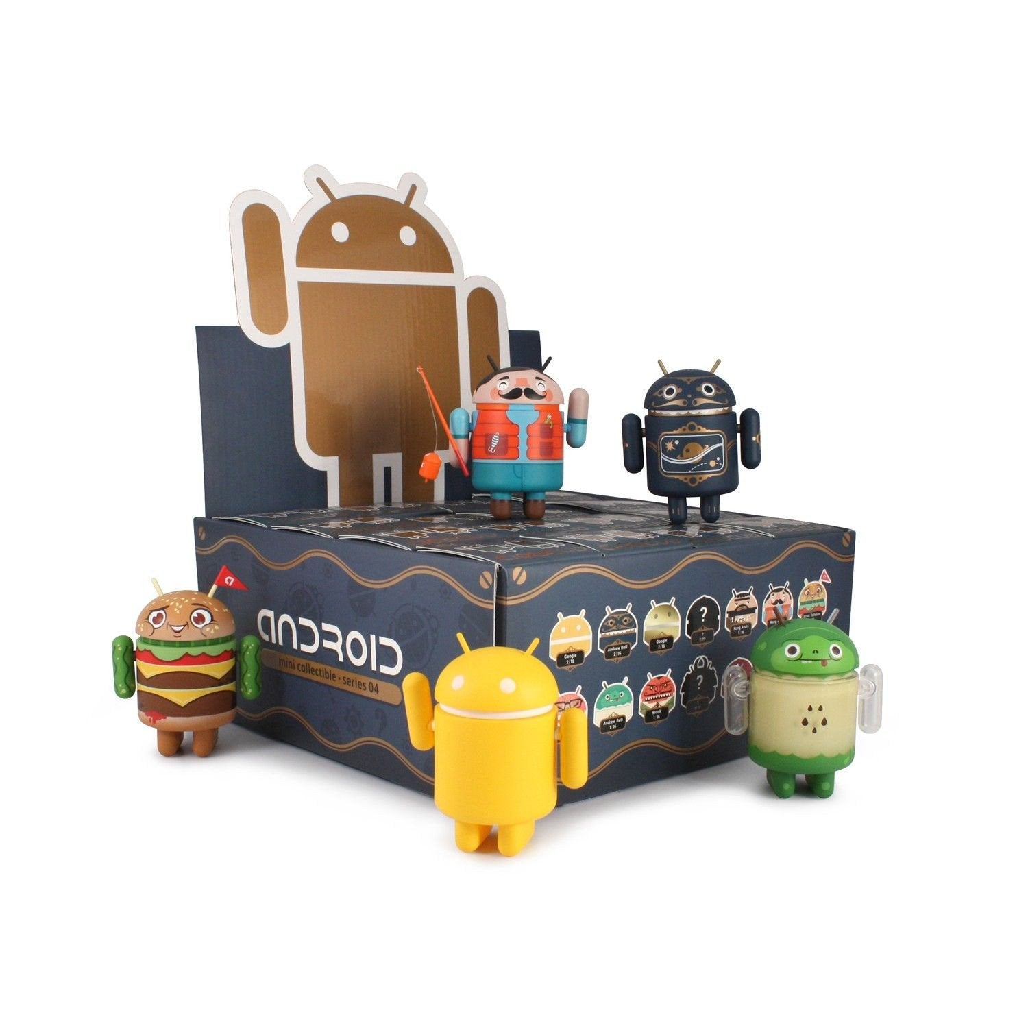 Android Mini Collectible Series 4 (Case of 16) - Fugitive Toys