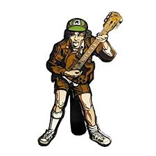 AC/DC: FiGPiN Enamel Pin High Voltage Angus Young [17]
