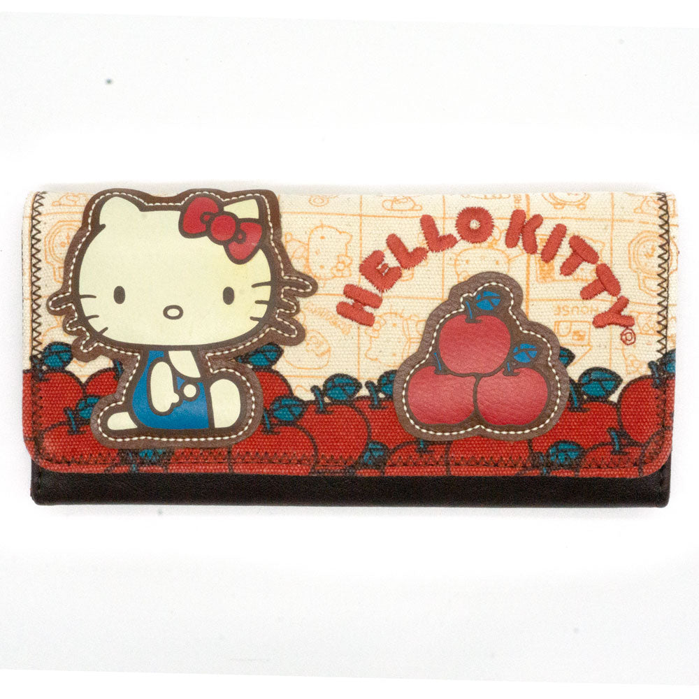 Loungefly x Hello Kitty Apple Harvest Tri-Fold Wallet - Fugitive Toys