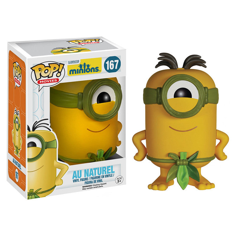 Movies Pop! Vinyl Figure Au Naturel [Minions] - Fugitive Toys