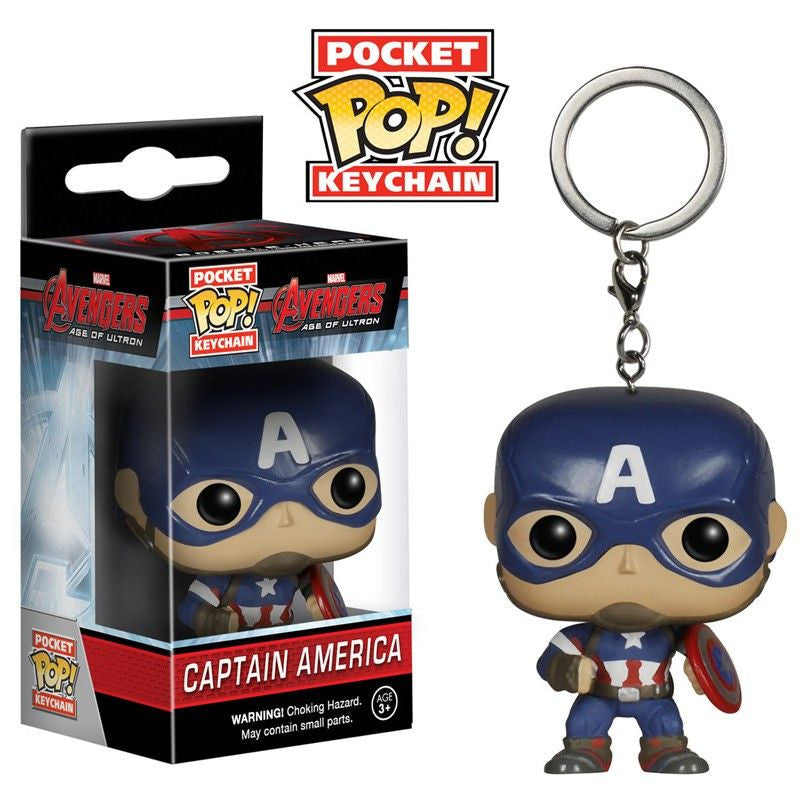 Marvel Avengers: Age of Ultron Pocket Pop! Keychain Captain America