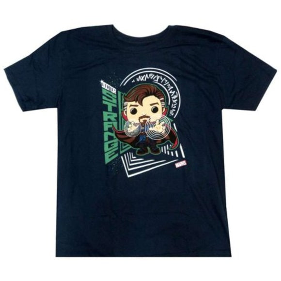 Marvel Pop! Tees Dr. Strange Navy Large