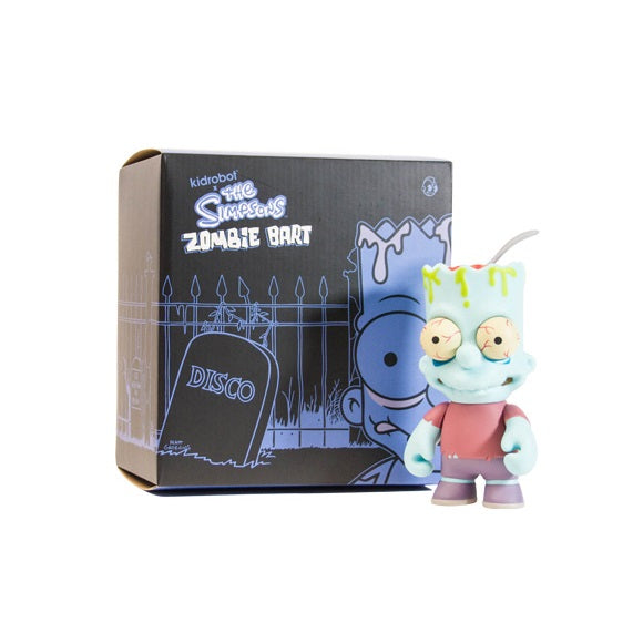 "Kidrobot x The Simpsons Zombie Bart Regular Edition 6"" Blue - Fugitive Toys"
