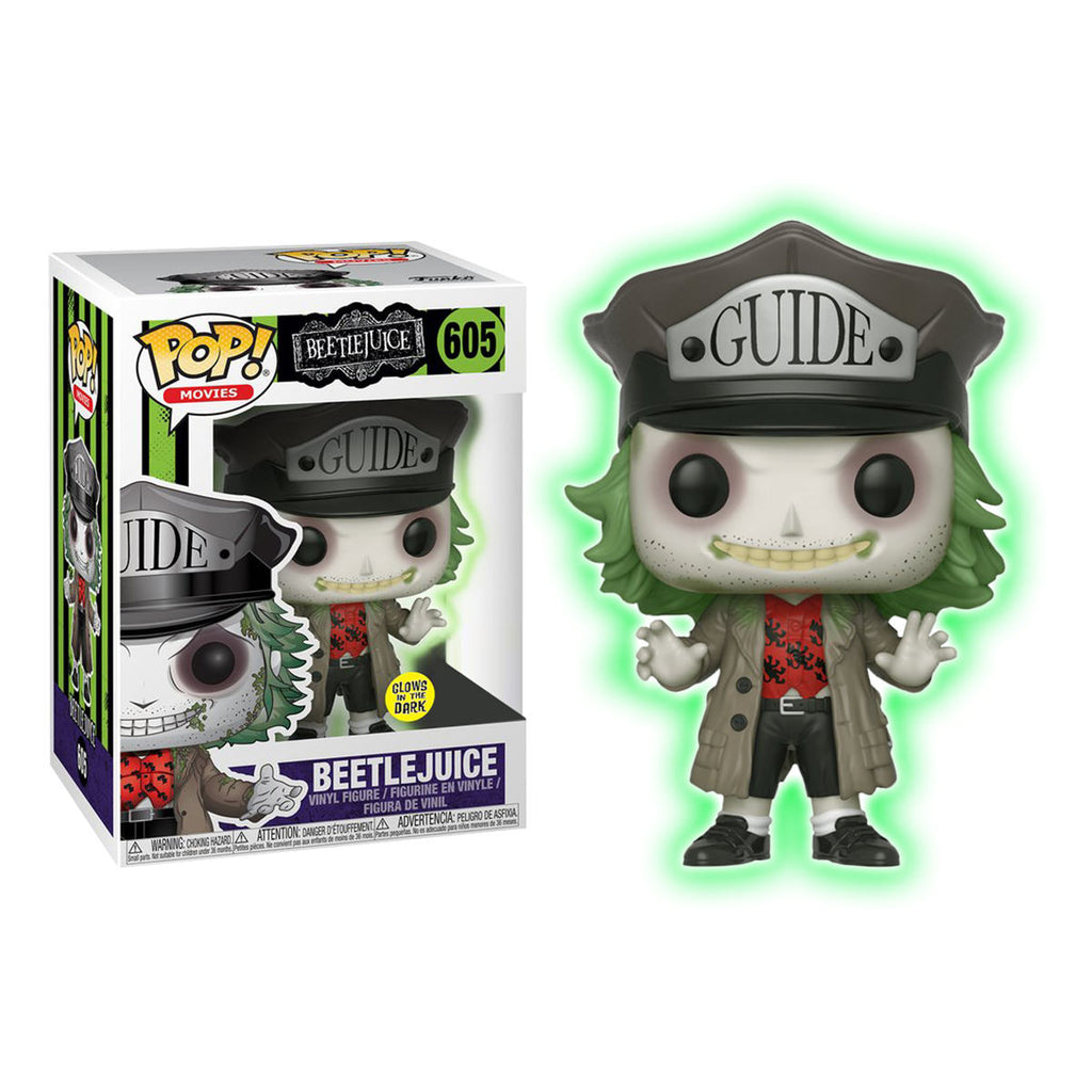 Beetlejuice Pop! Vinyl Figure Beetlejuice w/Hat (Glow in the Dark) [605]