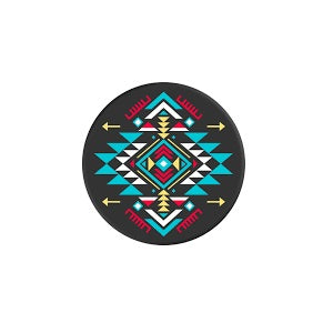 PopSockets Designs: Black & Teal Tribal Pattern