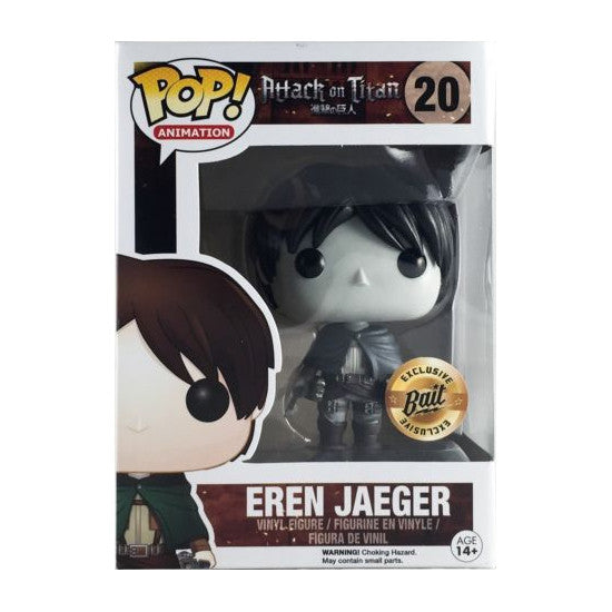 Attack on Titan Pop! Vinyl Figure Black & White Eren Jaeger [Bait Exclusive]