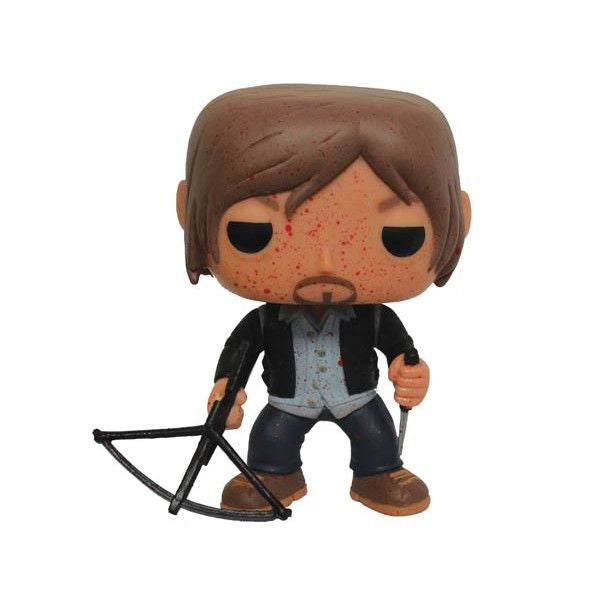 The Walking Dead Pop! Vinyl Figure Blood Splattered Biker Daryl [Previews Exclusive]