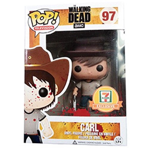 The Walking Dead Pop! Vinyl Figure Blood Splattered Carl [7-Eleven Exclusive]