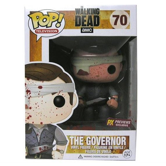 The Walking Dead Pop! Vinyl Figure Blood Splattered Gauze Governor [Previews Exclusive]