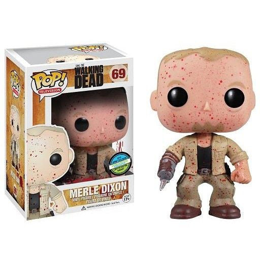 The Walking Dead Pop! Vinyl Figure Blood Splattered Merle Dixon [Convention Exclusive]