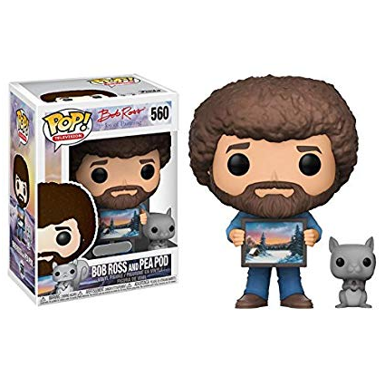 Bob Ross Pop! Vinyl Figures Bob Ross with Pea Pod [560]