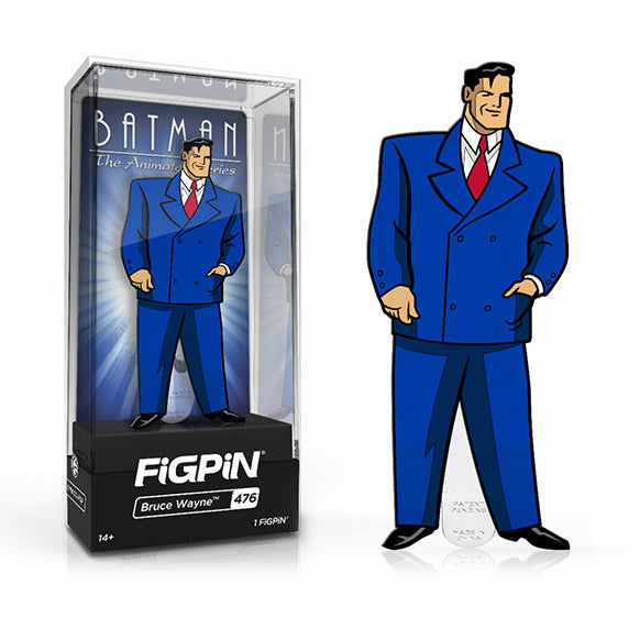 DC Batman The Animated Series: FiGPiN Enamel Pin Bruce Wayne (Limited Edition) [476] - Fugitive Toys