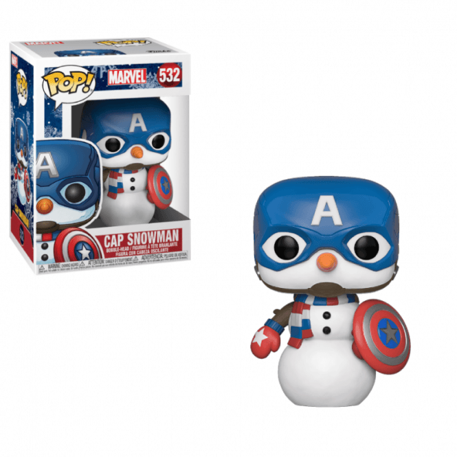 Marvel Pop! Vinyl Figure Captain America (Snowman) [532]