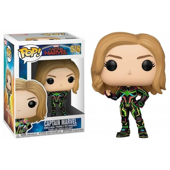 Marvel Pop! Vinyl Figure Captain Marvel in Neon Suit [516]