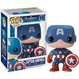Marvel The Avengers Movie Pop! Vinyl Bobblehead Captain America [10] - Fugitive Toys