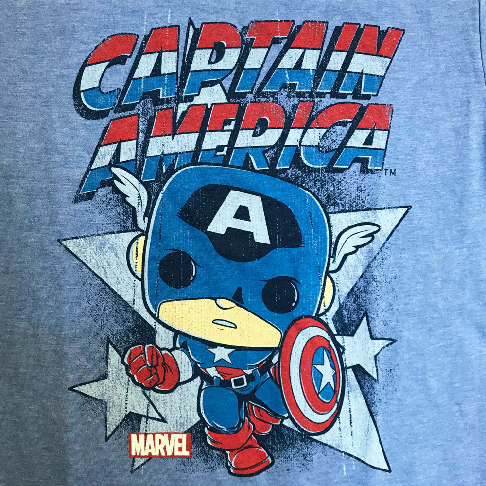 Pop! Tees Marvel Captain America Retro (2XL)