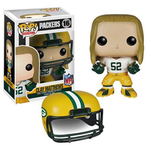 NFL Pop! Vinyl Figure Clay Matthews [Green Bay Packers]
