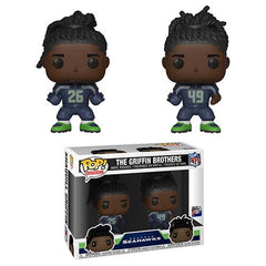 NFL Pop! Vinyl Figure The Griffin Brothers [Seattle Seahawks] [2-Pack]