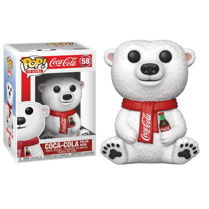 Ad Icons Pop! Vinyl Coca Cola Polar Bear [58] - Fugitive Toys