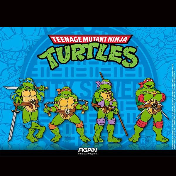 Teenage Mutant Ninja Turtles: FiGPiN Enamel Pin Complete Set of 4