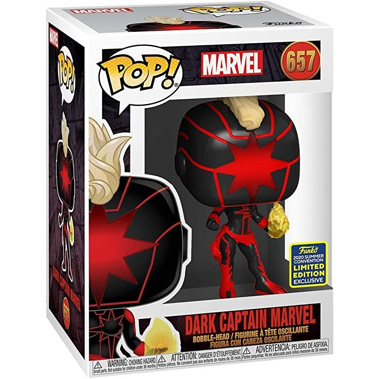 Marvel Pop! Vinyl Figure Dark Captain Marvel (2020 Summer Convention Exclusive) [657]