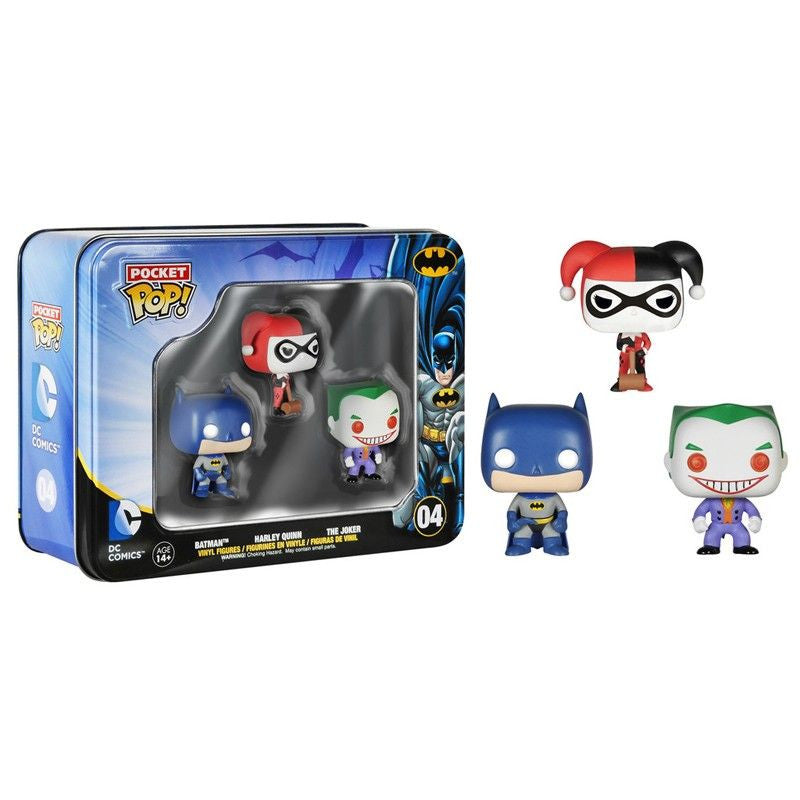 DC Universe Pocket Pop! 3-Pack Tin [Batman, Harley and The Joker]