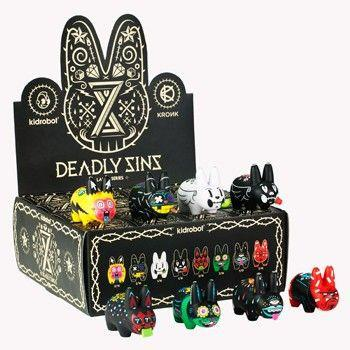 Kidrobot 8 Deadly Sins Labbit Mini Series (Case of 16)