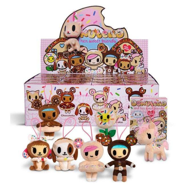 Tokidoki Donutella & Her Sweet Friends Mini Plush Collectibles (Case of 16)