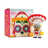 "Kidrobot x The Simpsons Homer Day of the Dead Mariachi 6"" White Vinyl Figure - Fugitive Toys"