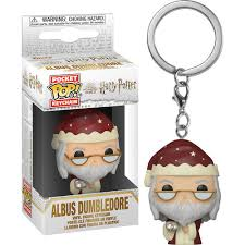 Harry Potter Pocket Pop! Keychain Holiday Albus Dumbledore