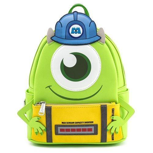 Loungefly x Disney Pixar Monsters Inc Mike Wazowski Mini Backpack