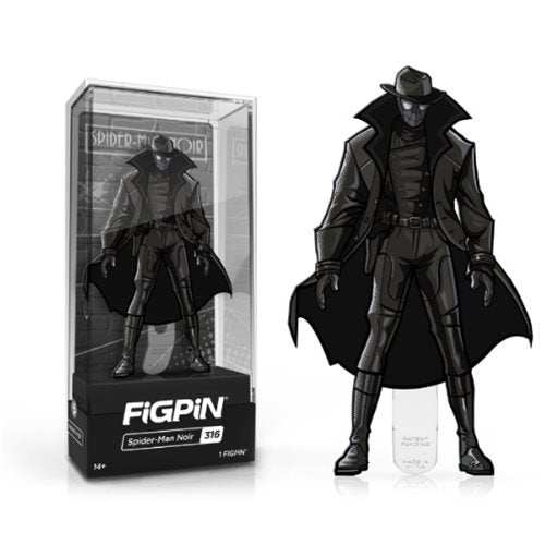 Into the Spider-Verse: FiGPiN Enamel Pin Spider-Man Noir [316] - Fugitive Toys