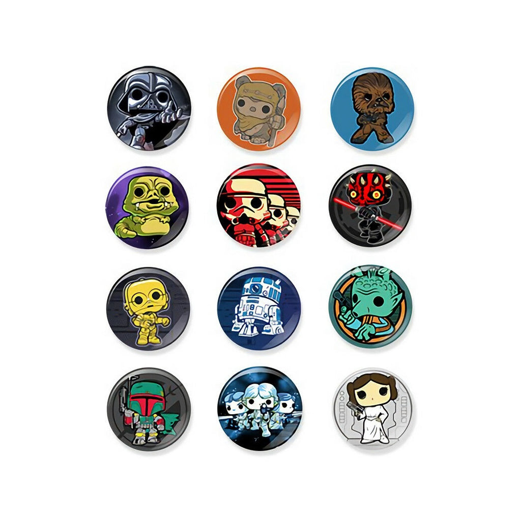 Pop! Pins Star Wars Classic Collectible Pinback Buttons (Set of 12)