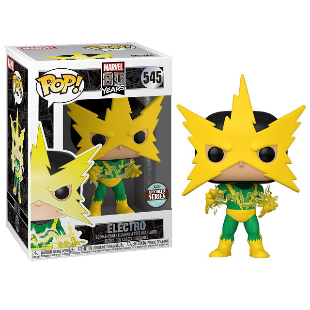 Marvel 80th Pop! Vinyl Figure First Appearance Electro [545] - Fugitive Toys