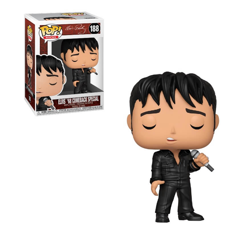 Rocks Pop! Vinyl Figure Elvis '68 Comeback Special [188]