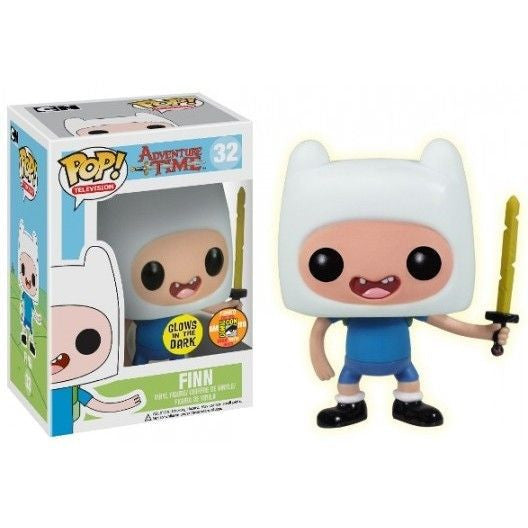 Adventure Time Pop! Vinyl Figure Glow Finn w/ Sword [SDCC 2013 Exclusive] - Fugitive Toys