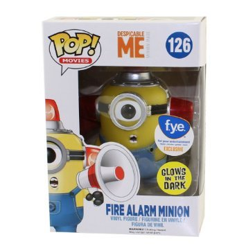 Despicable Me Pop! Vinyl Figures Glow In The Dark Fire Alarm Minion [126]