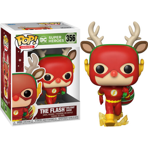DC Holiday Pop! Vinyl Figure The Flash Holiday Dash as Rudolph [356]