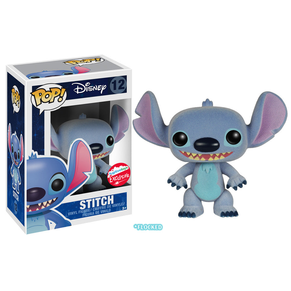 Disney Pop! Vinyl Figure Flocked Stitch [Lilo & Stitch] Fugitive Toys Exclusive