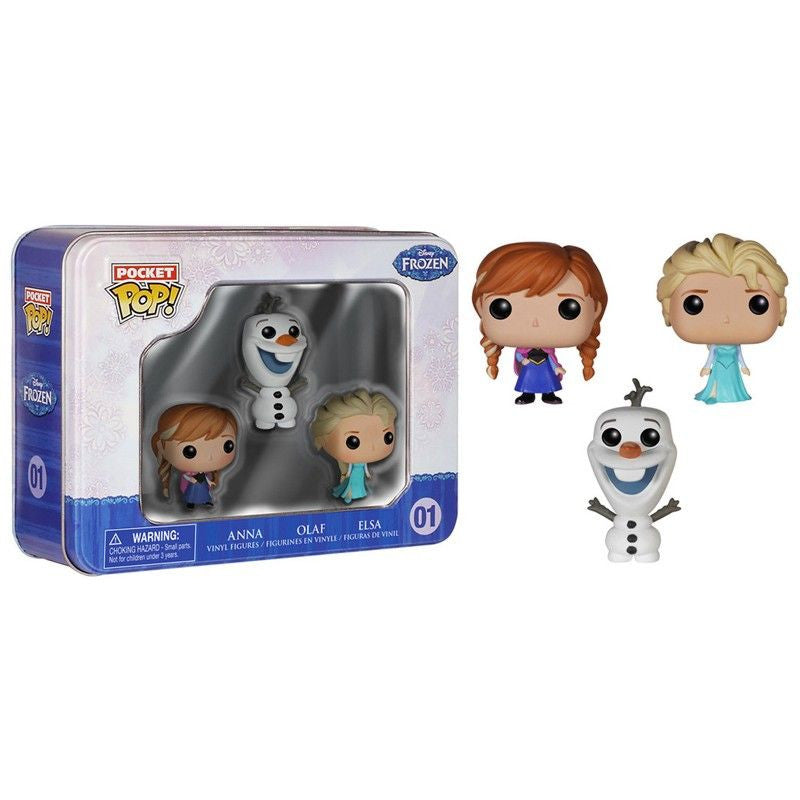 Disney Pocket Pop! Frozen 3-Pack Tin [Anna, Elsa and Olaf] - Fugitive Toys